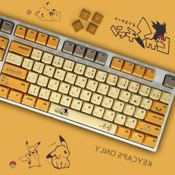 108 PBT Thick PBT Anime XDA Profile Keycaps for Cherry MX Me