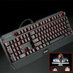 2.4GHZ Mechanical Gaming Keyboard LED Backlit With Red Switc