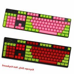 87/104 Key EVA Red Pink PBT Doubleshot Backlit Keycap Set fo