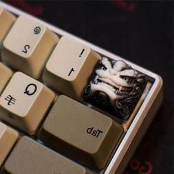 Chinese Style Lion Head Keycap Beast Resin Key Cap For Cherr