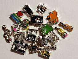 Educational & Arts Floating Charms for Living Lockets
