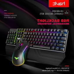 Gaming Keyboard And Mouse Combo Rgb Mechanical Full Power Se