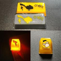 Handmade Pokemon Pikachu Squirtle Keycap Resin Key Cap For C
