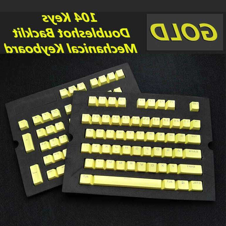 104 keys pbt keycap keycaps backlit doubleshot