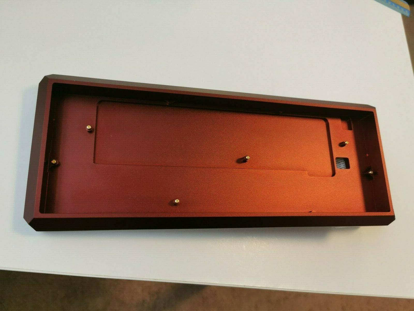 kbdfans 5 aluminum case, keyboards, dark red