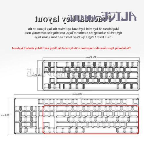 68-key Mini mechanical desktop laptop game