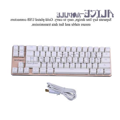 68 key mini mechanical keyboard desktop laptop