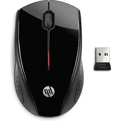 HP x3000 Wireless Mouse, Black