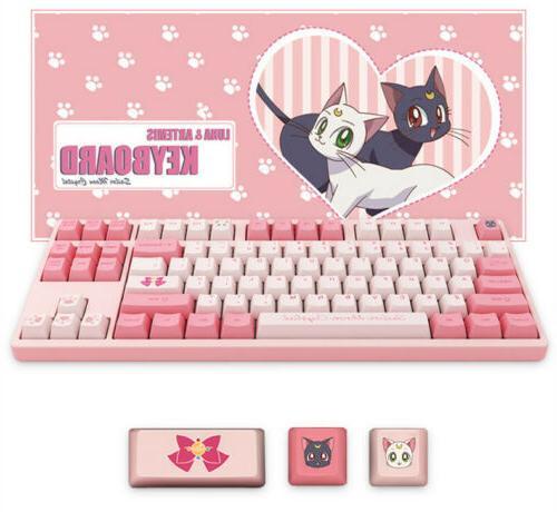 Anime Moon Pink 87Keys Cherry Gift