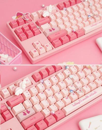 Anime Sailor Pink Cute Keyboards 87Keys Gift