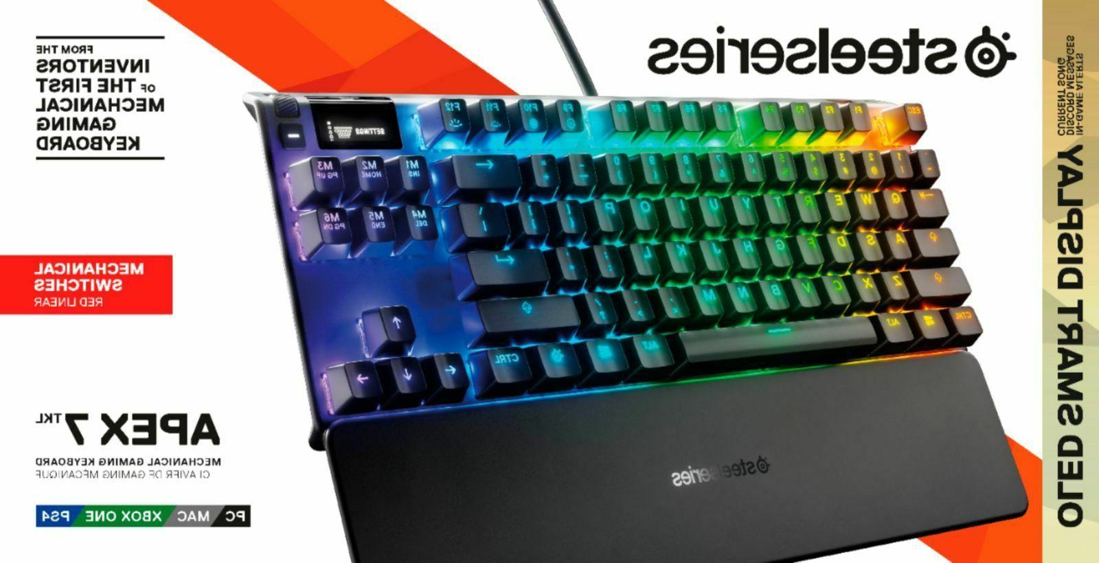 SteelSeries - Apex Red Keyboard New