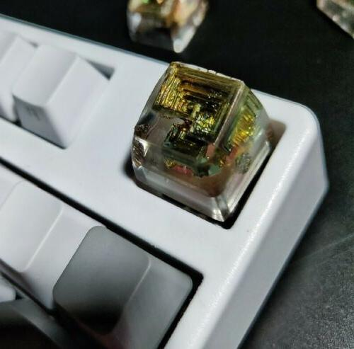 Bismuth crystal Clear Key Cherry Keyboard Artwork