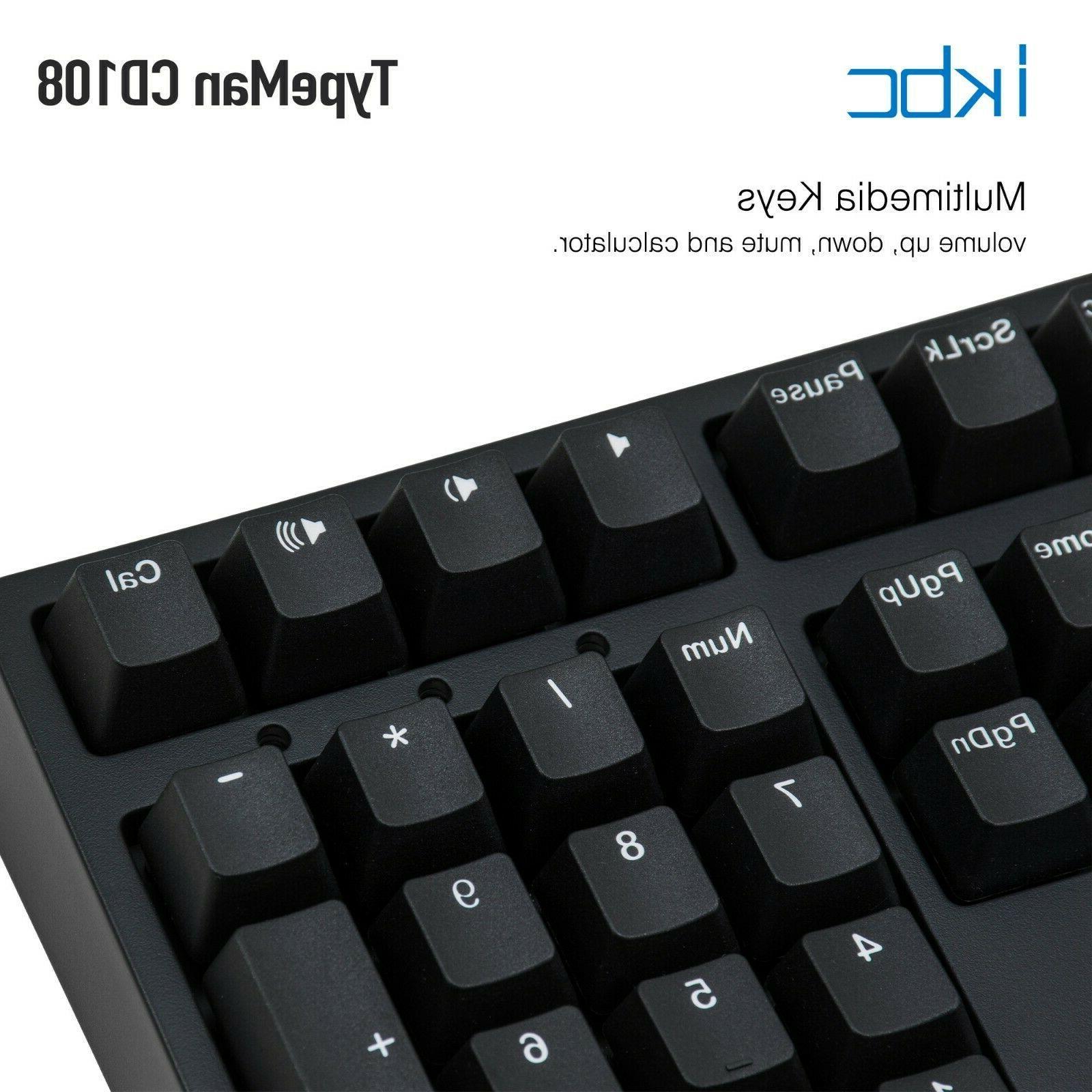 iKBC v2 Mechanical Ergonomic Keyboard with Cherry MX 108-Key,