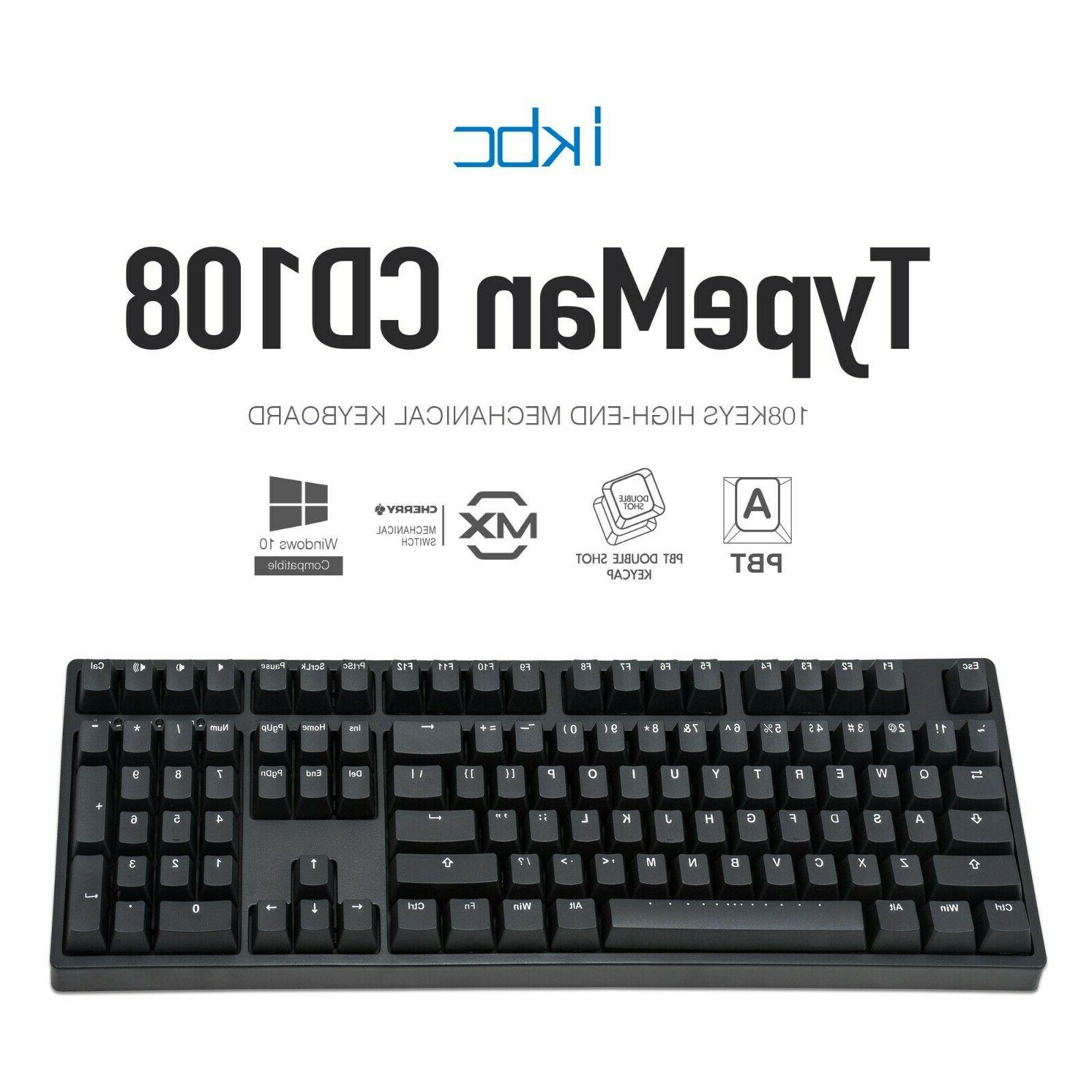 cd108 v2 mechanical ergonomic keyboard with cherry