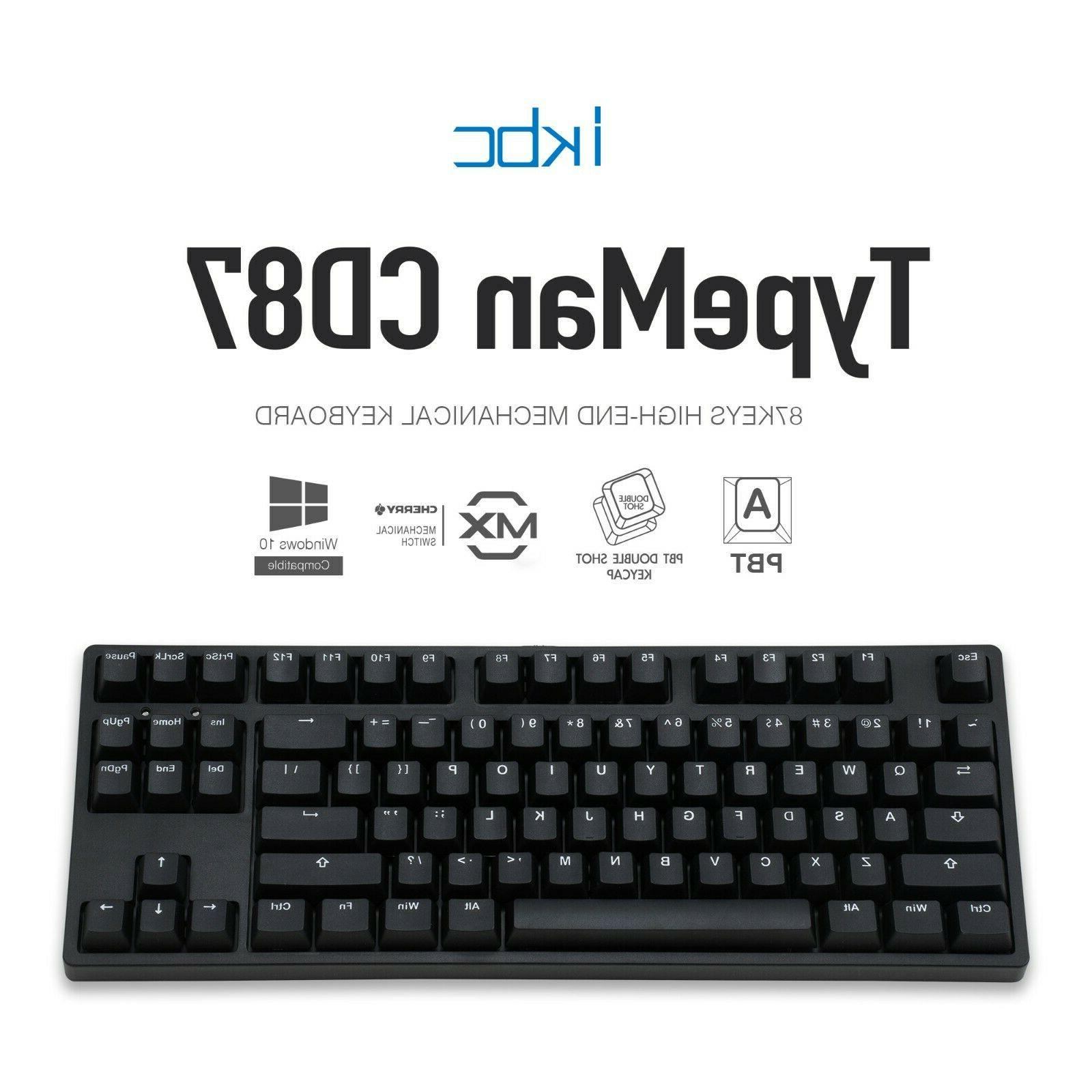 cd87 v2 mechanical ergonomic keyboard with cherry