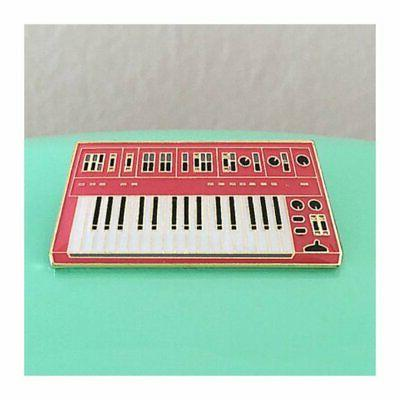 enamel pin charming afternoon synth keyboard 3rd