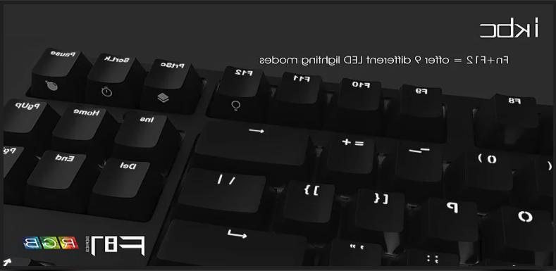 iKBC F87 Backlit Keyboard with Cherry Tenkeyless