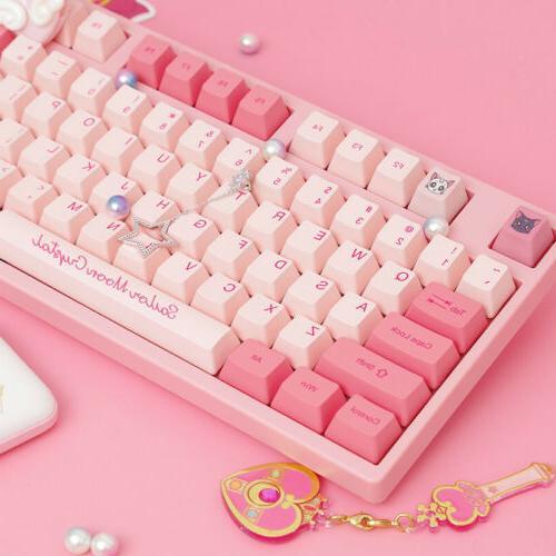 handmade sailor moon anime cherry mx keyboards