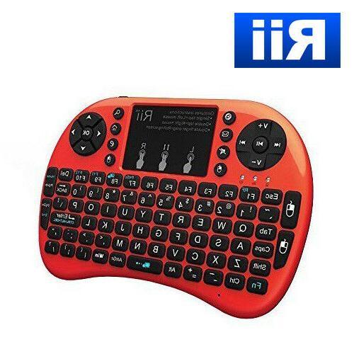 i8 wireless mini keyboard mouse backlite touchpad