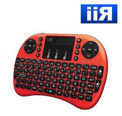 mini i8 2 4ghz wireless red keyboard