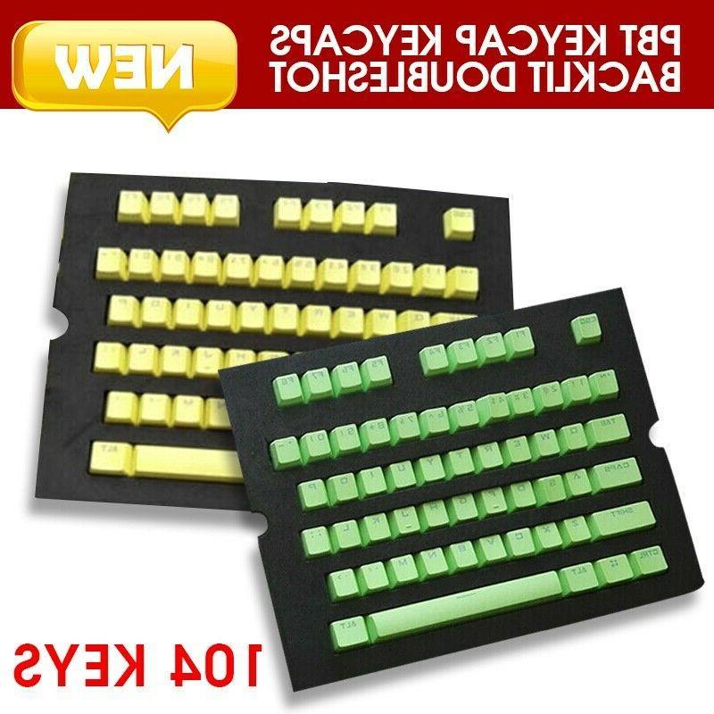 new 104 keys pbt keycaps backlit doubleshot