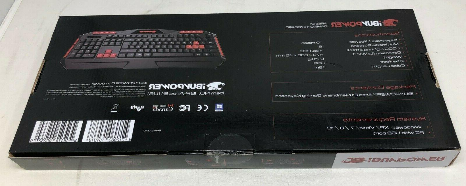 New! Gaming Resistant Keyboard Black Red