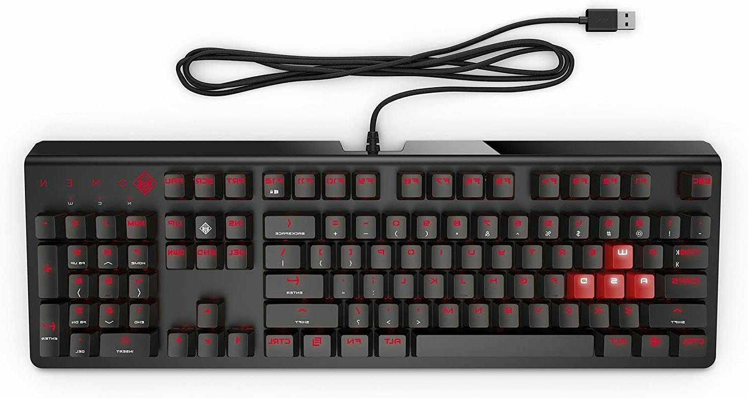 omen by wired usb gaming keyboard 1100