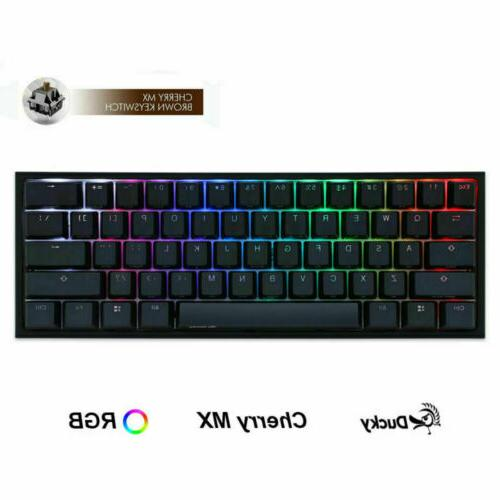 Ducky Mini RGB 60% Double Gaming Mechanical MX Brown
