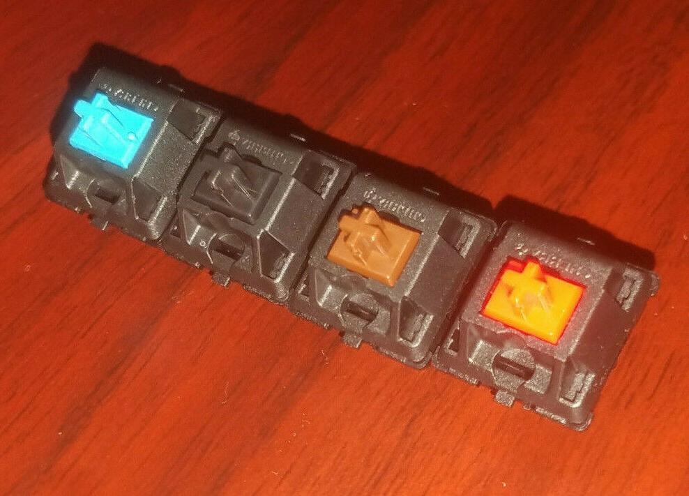 original mx mechanical switch black blue red