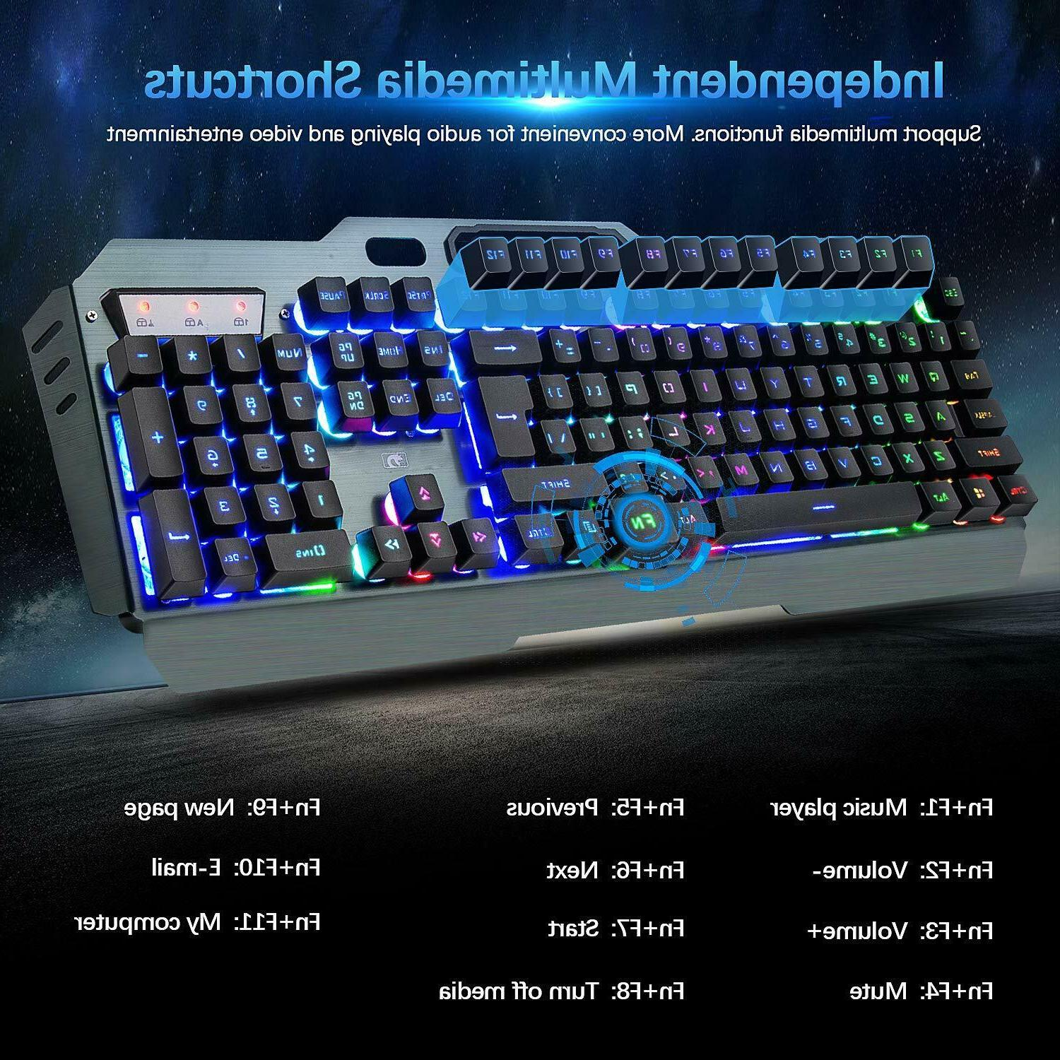 Rechargeable Backlit Gaming Keyboard Mouse Headset and Mouse Pad