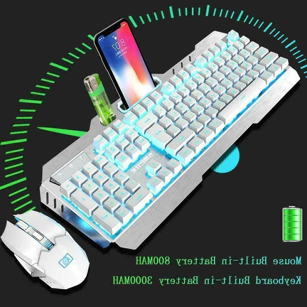 Rechargeable LED Gaming Keyboard Mouse and RGB Mouse