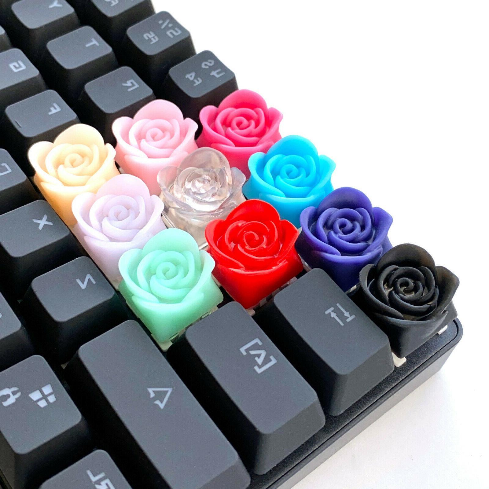 rose flower artisan keycap cherry mx mechanical