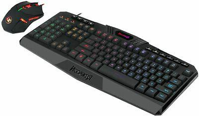 REDRAGON Wired Gaming Keyboard and Mouse Bundle ...
