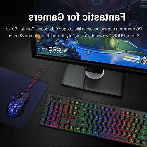 Redragon S107-BA Keyboard Mouse Feel