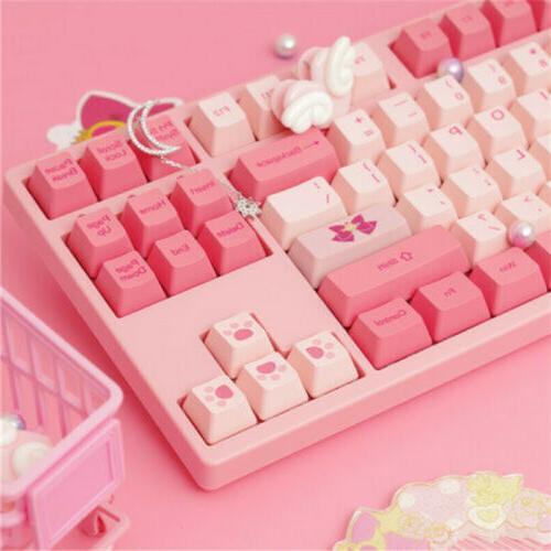 Anime Sailor Pink Kawaii 87Keys for Gift
