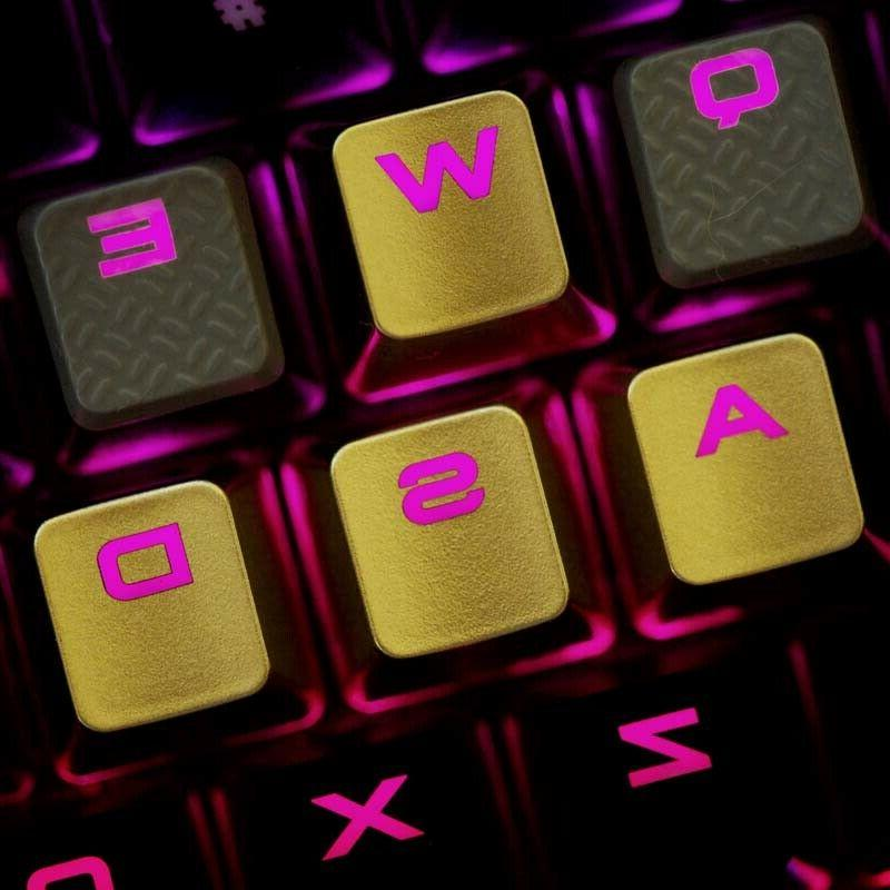 wasd backlit keycap gold keycaps for cherry
