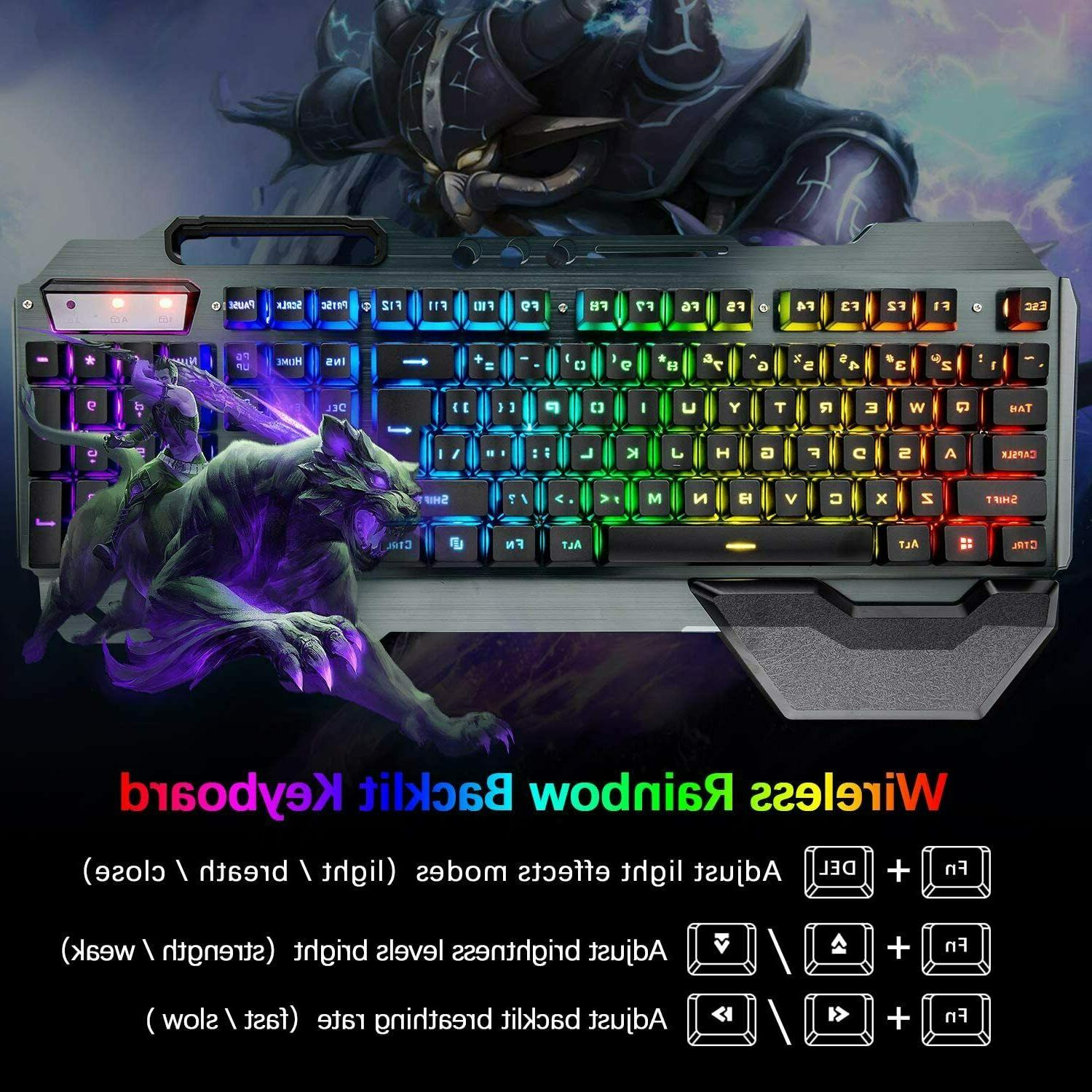 Wireless Mouse and Headset Backlit PC PS4 Gamers