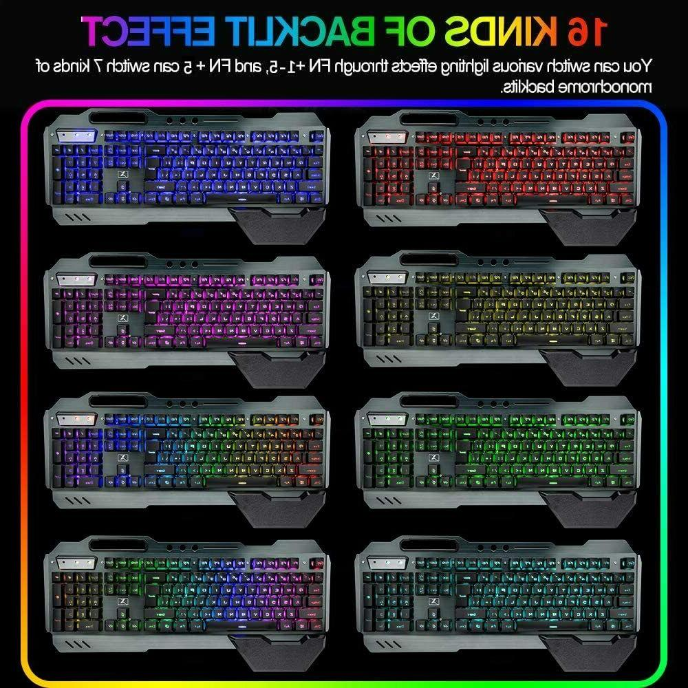 Wireless Gaming Keyboard Backlit for PC Gamers