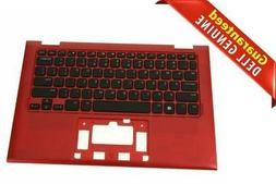 New Red Dell OEM Inspiron 3157 3158 Keyboard Palmrest Assemb