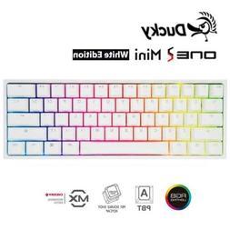 Ducky One 2 Mini Mechanical Keyboard Pure White RGB PBT Doub