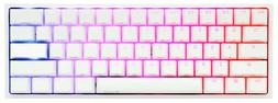 Pure White Ducky One 2 Mini RGB 60 Keyboard - Cherry MX Sile