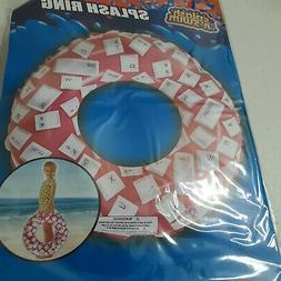 Red Keyboard Keys Round Splash Ring Toy Float Luau Summer Pa