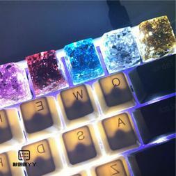 Resin BlingBling Color Key Caps Handmade OEM R4 for Mechanic