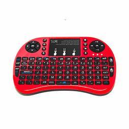 Rii i8+ Red Mini Wireless 0.0847oz Backlight Touchpad Air Mo