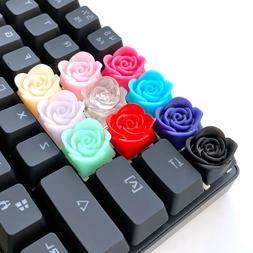 Rose Flower Artisan Keycap Cherry MX Mechanical Gaming Keybo