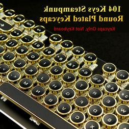 Steampunk Round Plated Typewriter Keycap OEM for Cherry MX M