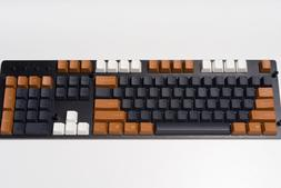 Tai-Hao Black Brown White Mixed Top Printed Keycaps Keyboard