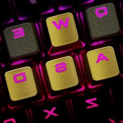 WASD Backlit Keycap Gold KeyCaps for Cherry MX Gaming Keyboa