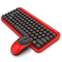 Wireless Keyboard Mouse Set Mechanical Dpi Adjustable Laptop
