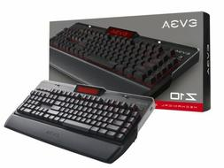 EVGA Z10 Gaming Keyboard, Red Backlit LED, Mechanical Blue S